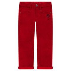 Pantalón slim de terciopelo con forro de jersey