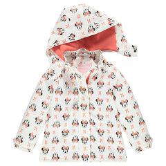 Corta vientos impermeable con capucha extraíble y estampado Disney Minnie