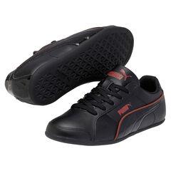 Zapatillas de deporte Puma de color negro con ribete de color rojo