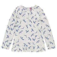 Júnior - Túnica de tejido con estampado de pájaro