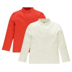 Lote de 2 camiseta interior con cuello alto manga larga