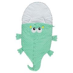Saco para bebé con forma de cocodrilo de borreguito con forro de punto