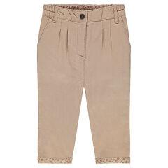 Pantalón liso de algodón
