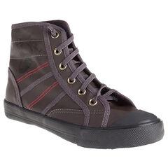 Zapatillas de deporte de caña alta con cordones con fantasía de color negro