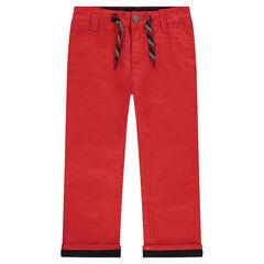Pantalón chino liso rojo