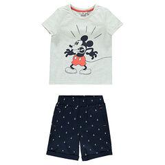Conjunto de playa Disney con camiseta Mickey y bermudas