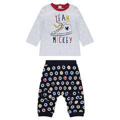 Conjunto de camiseta de manga larga y pantalón Disney Mickey
