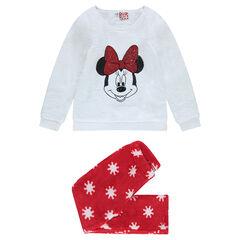 Pijama de terciopelo con estampado de Minnie y lentejuelas