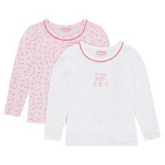Conjunto de 2 camisetas interiores con estampado y liso