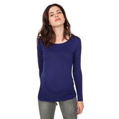 Camiseta de manga larga de premamá con espalda cruzada