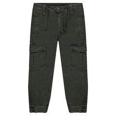 Pantalón de lyocell con multibolsillos