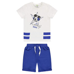 Conjunto de playa Disney con camiseta Mickey y bermudas lisas