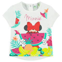 Camiseta de manga corta con estampado tropical de Disney Minnie