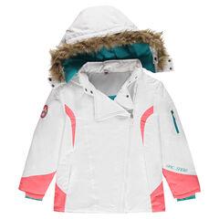Júnior - Cazadora de esquí con forro de micropolar con capucha extraíble