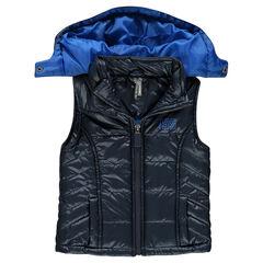 Anorak sin mangas acolchados con capucha desmontable