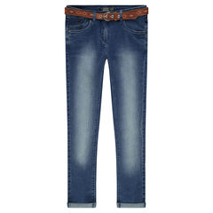 Júnior - Vaqueroa slim con cinturón extraíble