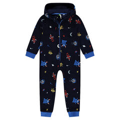 Pijama de micropolar motivo extraterrestres