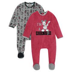 Juego de 2 pijamas de terciopelo de Disney con motivo de Mickey