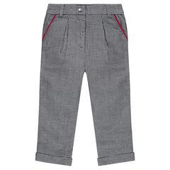 Pantalón de jacquard estilo chino