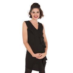 Vestido sin mangas de embarazada con volantes