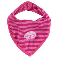 Babero de tejido de punto en forma de bandana estampado fantasía