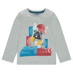 Júnior - Camiseta de manga larga con estampado de fantasía