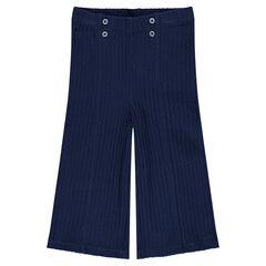 Pantalon large en maille à côtes esprit marin