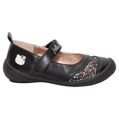 Merceditas negras de Hello Kitty con brillos