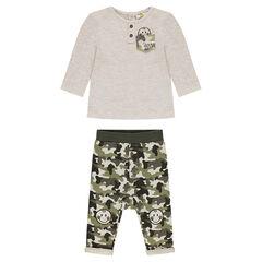 Conjunto de camiseta de manga larga y pantalón militar ©Smiley