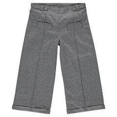 Pantalón tres cuartos 7/8 con jacquard estampados espigas