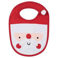 Babero de punto con dibujo de Papá Noel