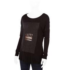 Camiseta de manga larga de premamá con mensaje estampado