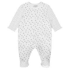 Mono de dormir de algodón con estampado de estrella