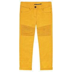 Pantalón skinny liso con detalle de pinzas