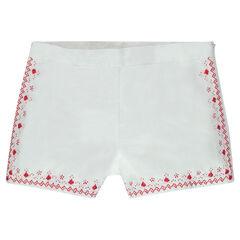 Júnior - Pantalón corto de algodón bordado