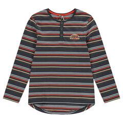 Júnior - Camiseta de manga larga con cuello
