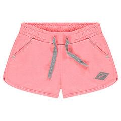 Júnior - Pantalón corto de muletón liso
