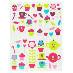 Stickers té y caramelo