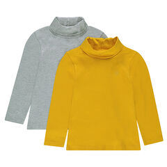 Júnior - Juego de 2 camisetas interiores de punto lisas