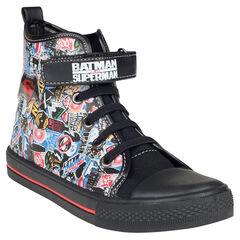 Zapatillas de deporte de caña alta con cordones con velcro Superman