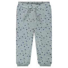 Pantalón de jogging de muletón estampado