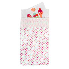 Funda nórdica y funda de almohada con helados estampados