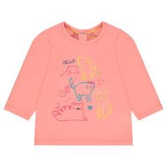 Camiseta de manga larga con estampado de fantasía