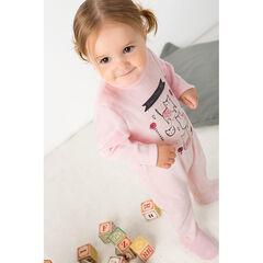 Pijama de terciopelo con estampado de gatos