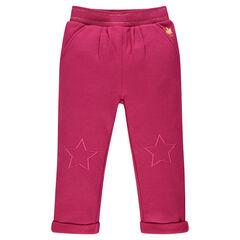 Pantalón de chándal de felpa con bordados con estrellas