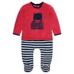 Pijama de terciopelo 2 en 1 con estampado BATMAN