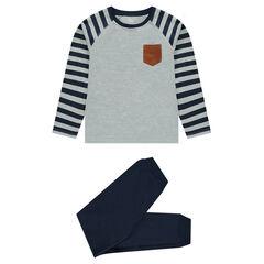 Júnior - Pijama de muletón y punto con inscripción estampada