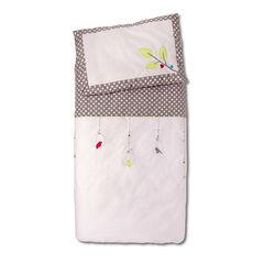 Funda nórdica y funda para almohada con bordado de puntos