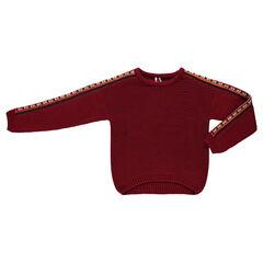 Júnior - Amplio jersey de punto grueso con bordados