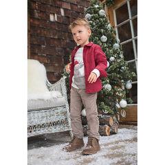 Pantalón de terciopelo corto color topo